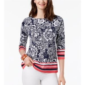 CHARTER CLUB Boat Neck Top